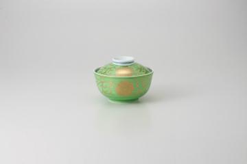 kak-100221 まとめ買い10個セット品 和食器 高級な 緑彩雲母牡丹 煮物碗 ECJ 36K255-02 新商品 キャンセル 返品不可 まごころ第36集