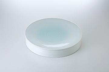 【まとめ買い10個セット品】和食器 青白瓷 8.0水面皿 36K207-05 まごころ第36集 【キャンセル/返品不可】【ECJ】