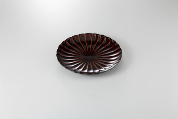 【まとめ買い10個セット品】和食器 漆ブラウン 8寸皿 35K210-05 まごころ第35集 【キャンセル/返品不可】【ECJ】