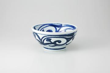 和食器 藍草文 さぬき丼 35K333-16 まごころ第35集