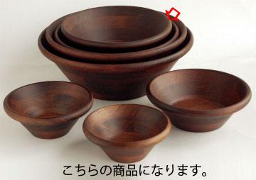 和食器 天然木サラダボウル・こげ茶 φ21cm 35R556-25 まごころ第35集