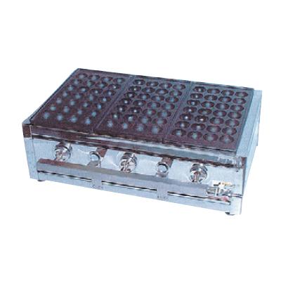 たこ焼ガス台(関西型)28穴3枚掛 13A ET-283 【ECJ】