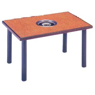 【業務用】炭火の華 焼物コンロ テーブル用[テーブルのみ] KR-KAD128T 【 メーカー直送/代引不可 】 【 送料無料 】