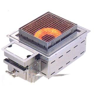 【業務用】炭火の華 焼物コンロ 埋込タイプ KR-ZYU [赤外線:コンロ埋込式] 【 メーカー直送/代引不可 】 【 送料無料 】