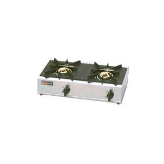【業務用】リンナイ業務用ガステーブル2口 立消え全装置付〔RSB-206SV〕  【 ガステーブル ステンレス 】