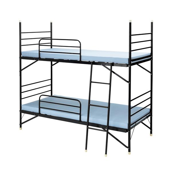スチール2段ベッド【 パネル パーテーション 】【 メーカー直送/後払い決済不可 】