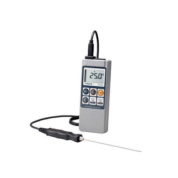 メモリ機能付防水型 デジタル温度計 SK-1260 (標準センサーSK-S100K付) 【ECJ】