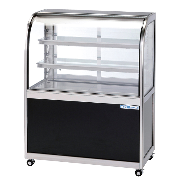 低温冷蔵ショーケース OHGF-Ta型(3段式・中棚2枚) OHGF-Ta-1500 両面引戸(W) 【ECJ】