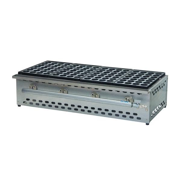 たこ焼機(28穴) カス受け付 TS-285S 5連 LP 【ECJ】