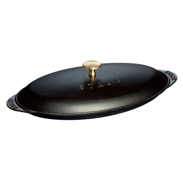 ストウブ フィッシュホットプレート 31cm 黒 40509-400 【ECJ】