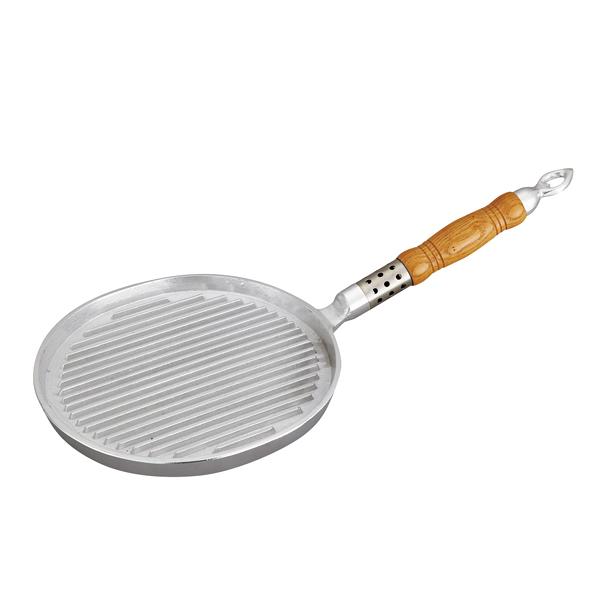 アルミイモノ ステーキパン 丸型(木柄) 【ECJ】