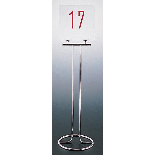 UK18-8 テーブルナンバースタンド (ドーナツベース) U型 【ECJ】