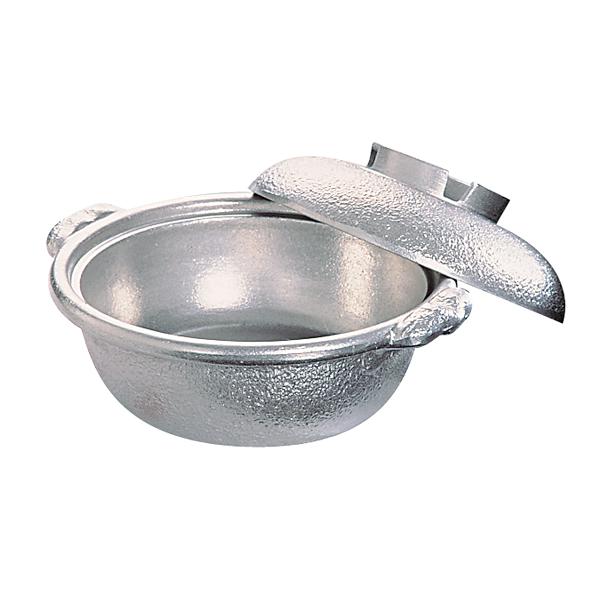 アルミ電磁用 土鍋風鍋(白仕上) 30cm 【ECJ】