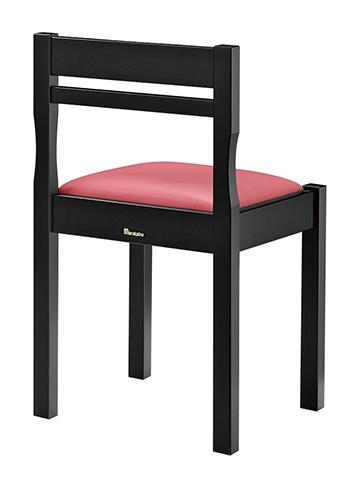 和風椅子 関羽B ブラック 1306-1900(茶レザー) 【ECJ】