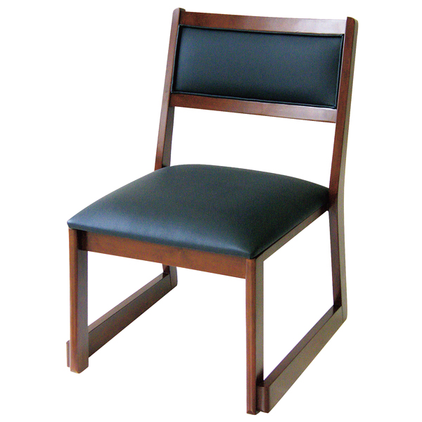 高脚座椅子(スタッキング式) 喜楽35B ブラウン 【ECJ】