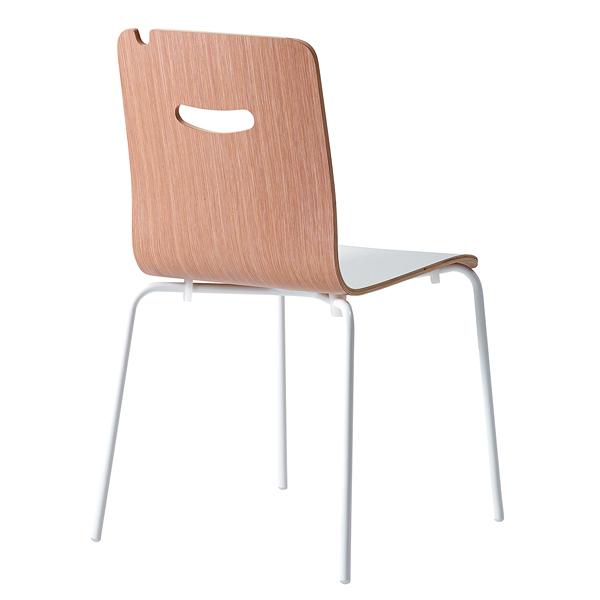 椅子 S472-11WB(背:木目柄) 【ECJ】