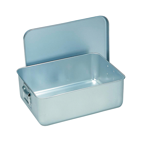 アルマイト 給食用パン箱(蓋付) 260-A(40個入) 【ECJ】