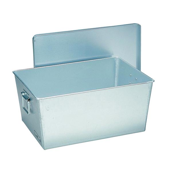 アルマイト 給食用パン箱 深型(蓋付) 257(45個入) 【ECJ】