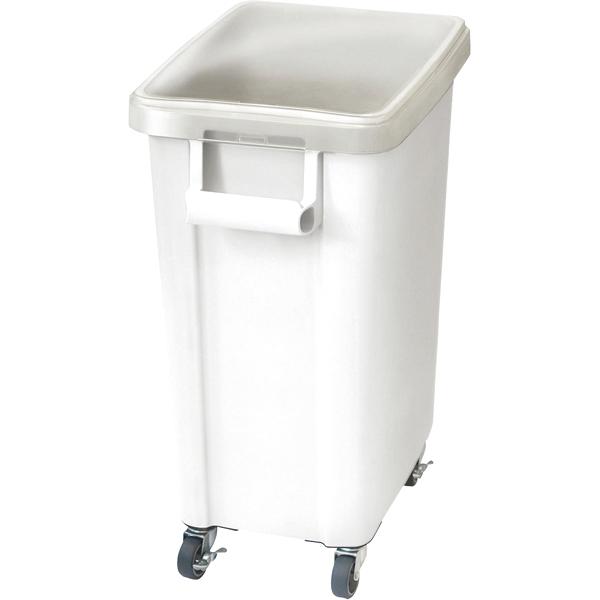 リス キャスター付材料保管容器(蓋付) ホワイト 70l 【ECJ】
