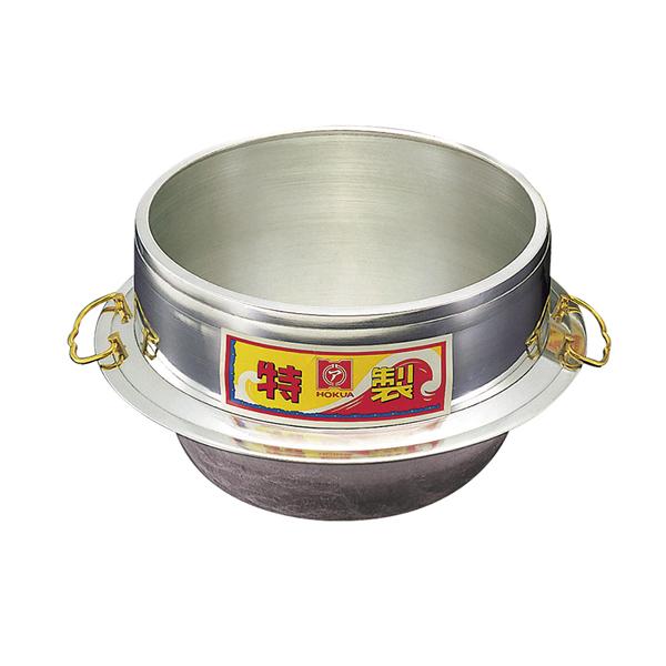 アルミ鋳物 キング釜(カン付) [外]36cm 【ECJ】