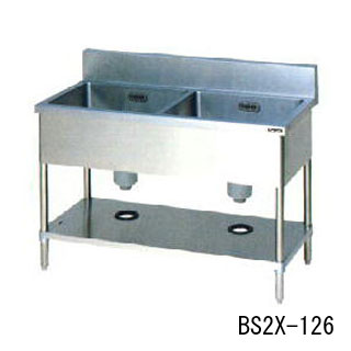 【業務用】業務用 マルゼン 2槽シンク BS2X-157W 【 メーカー直送/代引不可 】