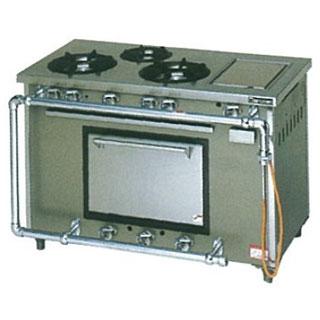 【業務用】マルゼン スタンダードタイプガスレンジ ホットプレート付〔MGR-126TCS〕 【 厨房機器 】 【 メーカー直送/後払い決済不可 】