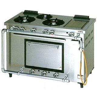 【業務用】マルゼン デラックスタイプガスレンジ ホットプレート付〔MGRD-126TCS〕 【 厨房機器 】 【 メーカー直送/後払い決済不可 】