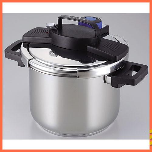 【業務用】3層底ワンタッチレバー圧力鍋 5.5L [ 8合炊 ] [パール金属]