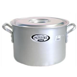 【まとめ買い10個セット品】半寸胴鍋 アルミニウム(アルマイト加工) (目盛付)TKG 18cm