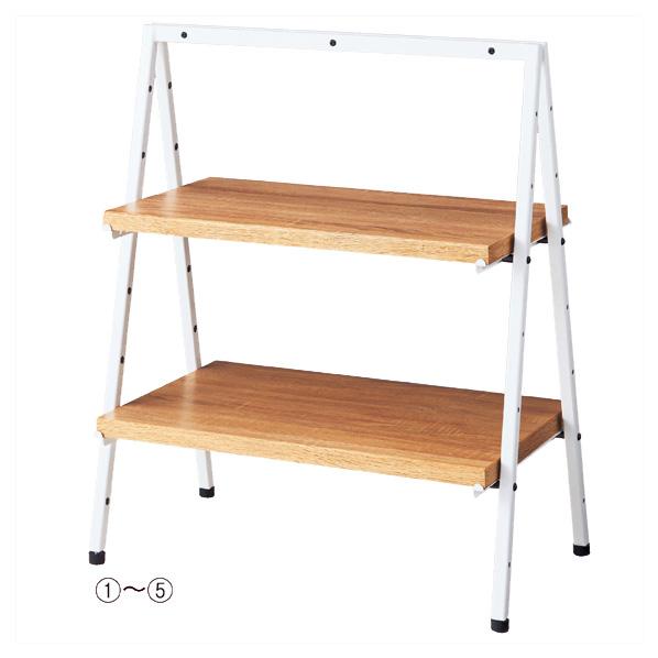 【まとめ買い10個セット品】 卓上ディスプレー 木棚セット D35cm 【ECJ】