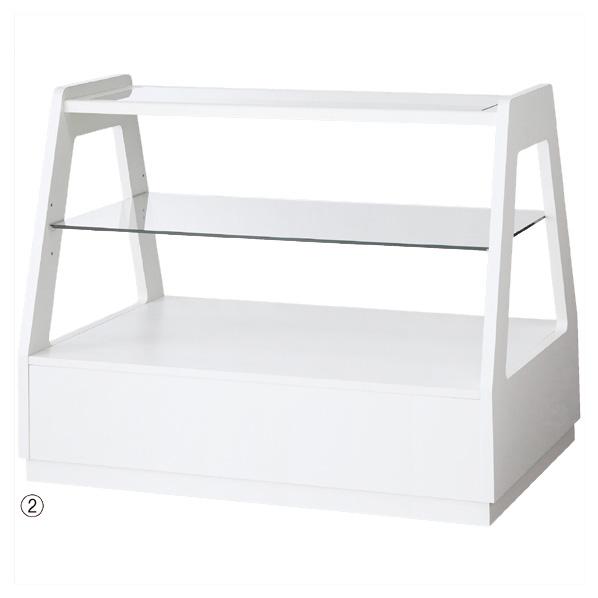 【まとめ買い10個セット品】 木製フレーム3段テーブル ホワイト 【ECJ】