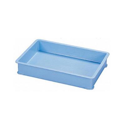 【まとめ買い10個セット品】サンコー PPカラー番重 A型 ブルー