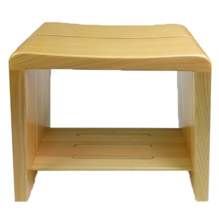 高級日光桧 匠の風呂椅子(癒し)【ECJ】