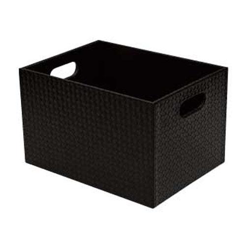 【まとめ買い10個セット品】シンビ 脱衣カゴ BOX式(ボックス式) TM-OA ブラック
