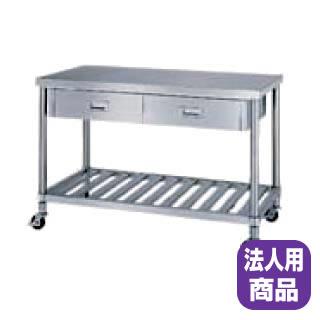 シンコー作業台スノコ棚(キャスター付)(片面引出付)ADSC-18060●寸法(mm):1800×600×800