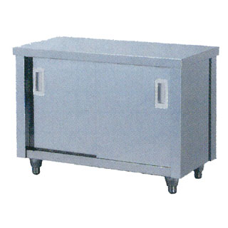 【業務用】調理台 業務用ステンレス製片面引違戸式調理台 TO型 TO-1255 1200×550×800 【 メーカー直送/代引不可 】