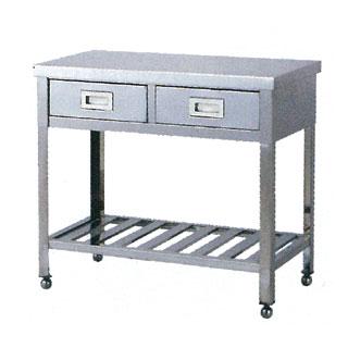 【業務用】業務用ステンレス製片面引出式調理台 WD型 WD-9055 900×550×800 【 メーカー直送/代引不可 】