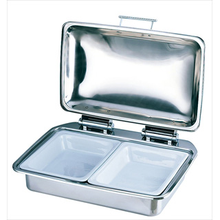 KINGO角チェーフィング フルサイズ D104G-T陶器仕様[フードパン1/2×2] 【 業務用
