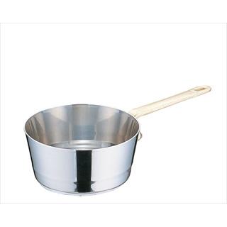 【まとめ買い10個セット品】UK18-8プチテーパー片手深型鍋 (蓋無) 12cm