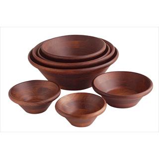 【まとめ買い10個セット品】【 サラダボール 】木製 サラダボール 天然木サラダボウル こげ茶 18cm