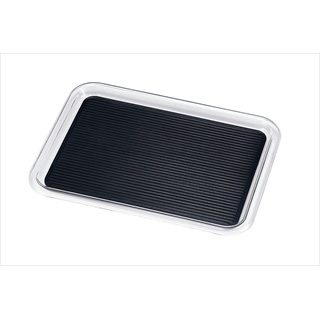 【まとめ買い10個セット品】クリア マジックトレー 角型 16インチ(特大)ブラック