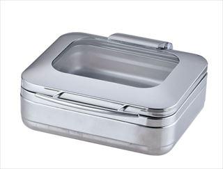 KINGO角チェーフィング 1/2サイズ J306-Sガラス蓋・ST中皿