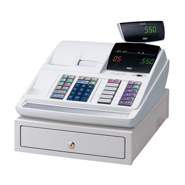テック電子レジスターMA-550-5-R ホワイト(5部門) 【 メーカー直送/代引不可 】 【ECJ】