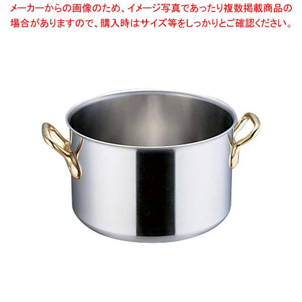 SAスーパーデンジ 半寸胴鍋(蓋無) 48cm【ECJ】【 半寸胴鍋 】