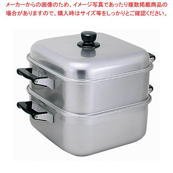 アルマイト角型蒸器 28cm 一重 【ECJ】