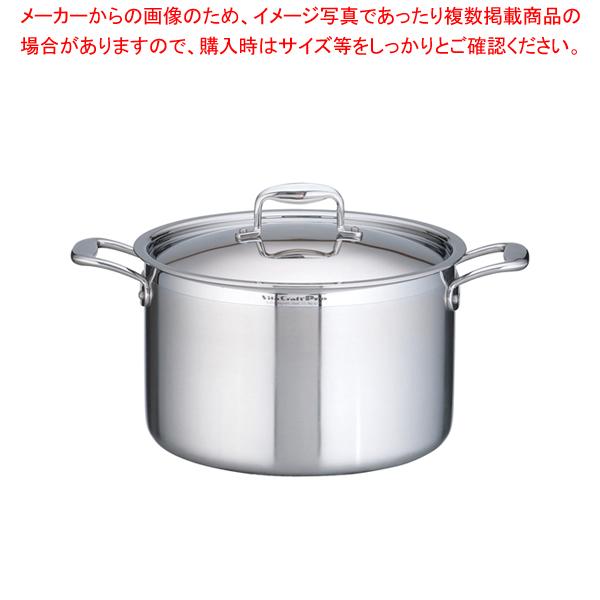 ステンレス ビタクラフト・プロ 半寸胴鍋 (蓋付)28cm No.0224【 半寸胴鍋 】 【ECJ】