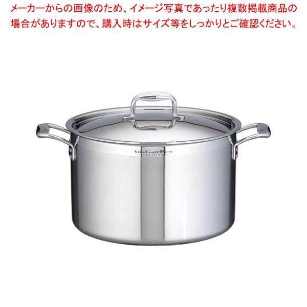 ステンレス ビタクラフト・プロ 半寸胴鍋 (蓋付)36cm No.0227【 半寸胴鍋 】 【ECJ】