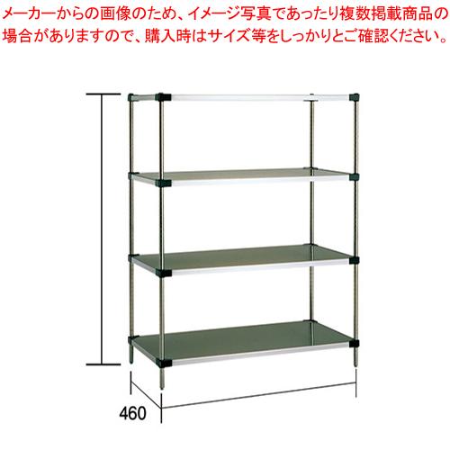 ソリッドエレクターシェルフセット MSS 760×P1590×4段【ECJ】【メーカー直送/代引不可】