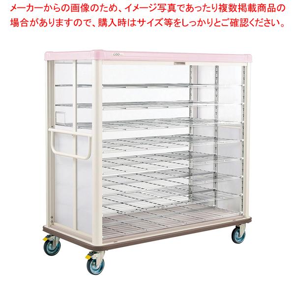 常温配膳車 シャッター式 ワイドタイプ JCSW54R シュガーピンク 【ECJ】