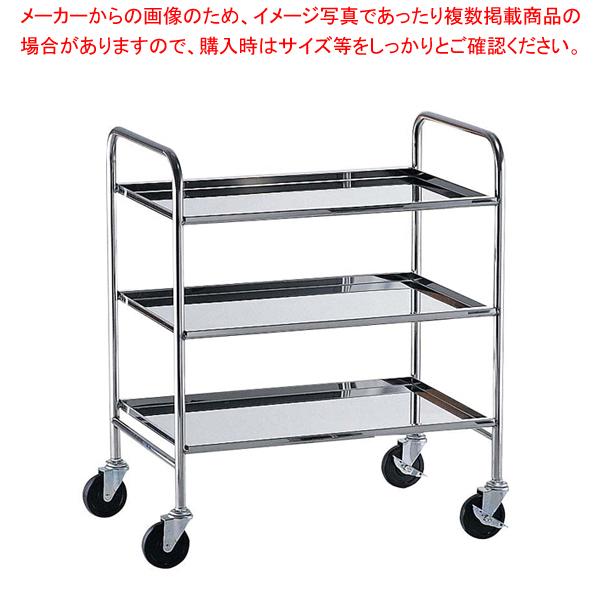 TKG18-8衛生サイドアップワゴン3段 ゴム車【ECJ】【厨房用品 調理器具 料理道具 小物 作業 】
